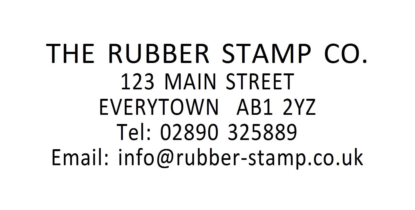 Address Stamp Name Stamp Personalised Address Stamp